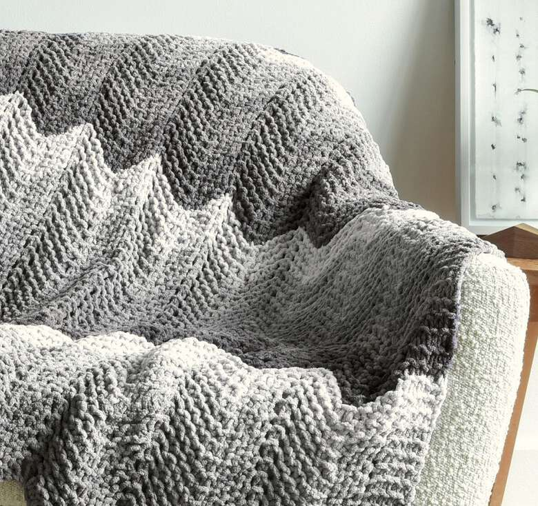 Bernat boutique, From geometric motifs to soothing tonal fades.