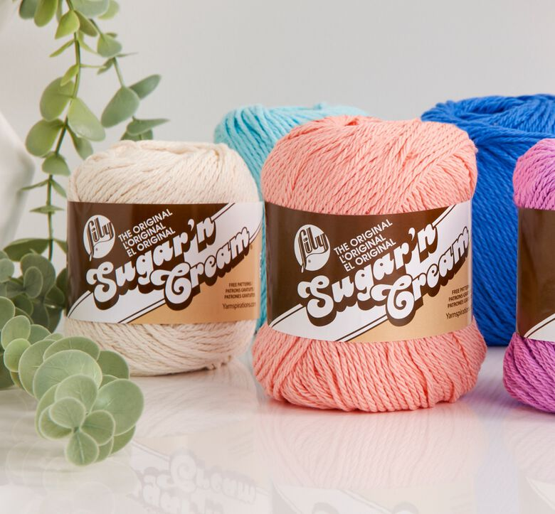 Lily Sugar'N cream, clean and crafty yarns to make things spic and span.