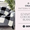 EZ Knitting: Checkered Blanket