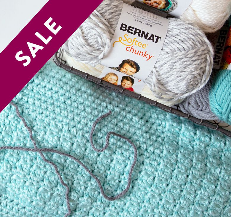 Buy 3 Save 15% on Bernat Softee Chunky Family Yarns. Excludes clearance.