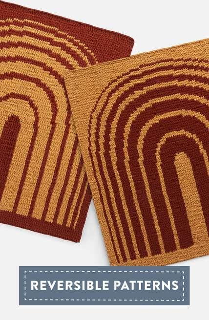 Bernat boutique, explore our new Alize blanket EZ Graph It reversible patterns.