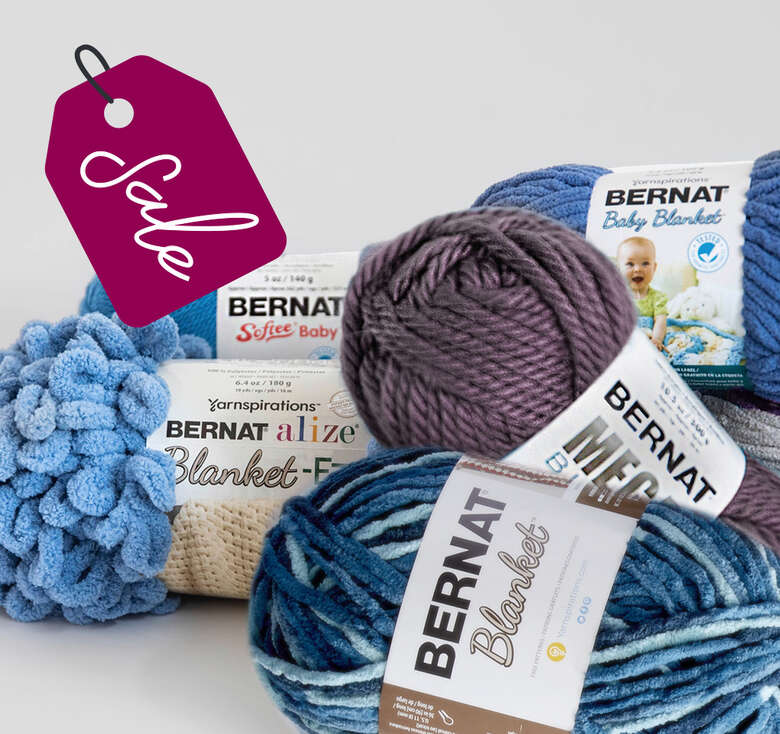 Bernat Exclusive, Spend over $75 on Bernat and save 20%.  Some exclusions apply and clearance.