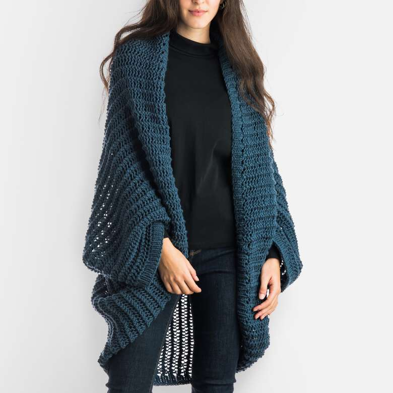 Red Heart boutique has light and cozy layers.