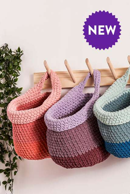 Baskets to organize. Get your stitch together with these patterns!