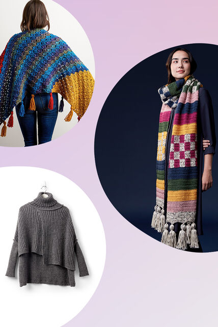 Capes, Ponchos & Scarves Pattern Round-up