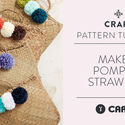 Make It: Pompom Straw Bag