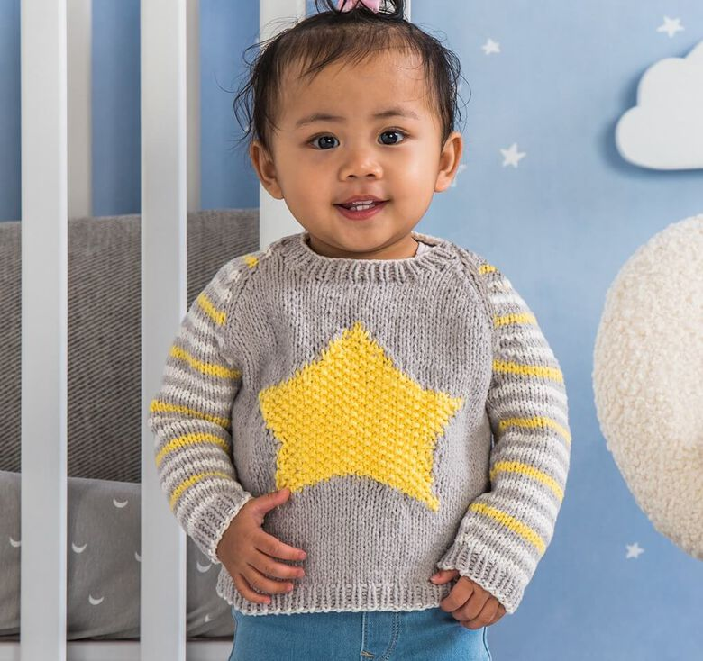 Bernat® Bundle Up yarn wraps your little bundle in love.