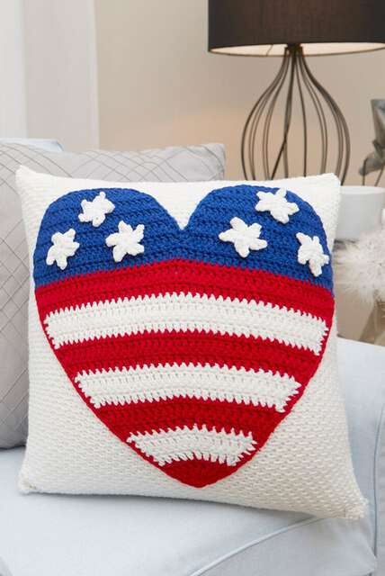 Red, White & Blue, Patriotic stars and stitches for Independence Day!