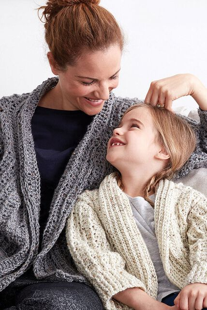 Lounge around and stitch up some snuggles with these cozy sweaters, cardigans, and more.