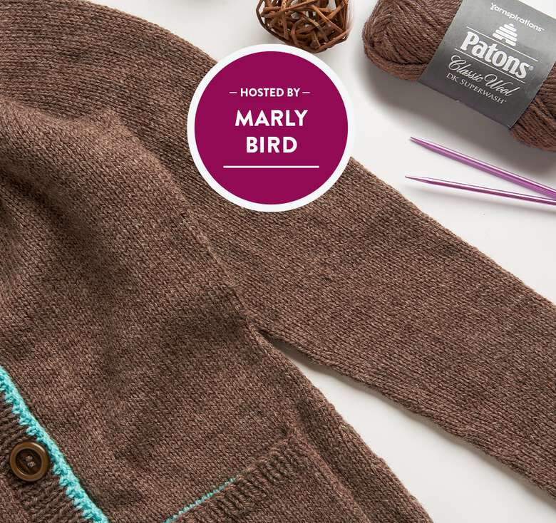 Marly Bird Cardigan Knit Along.  Sign up now to get access to the weekly pattern modules for each lesson.