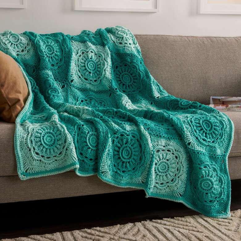 Red Heart boutique has bright accents for the home in blankets and throws.