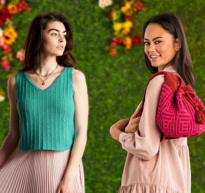 Bernat boutique, showcasing our new fashion and décor patterns.