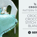 Crochet Crocodile Stitch Baby Blanket