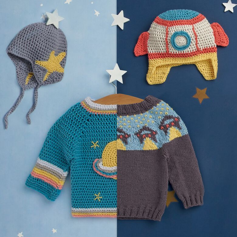 Cosmic Baby, this collection of baby patterns is out of this world!