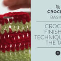 Crochet Finishing Technique:  Bury The Tails