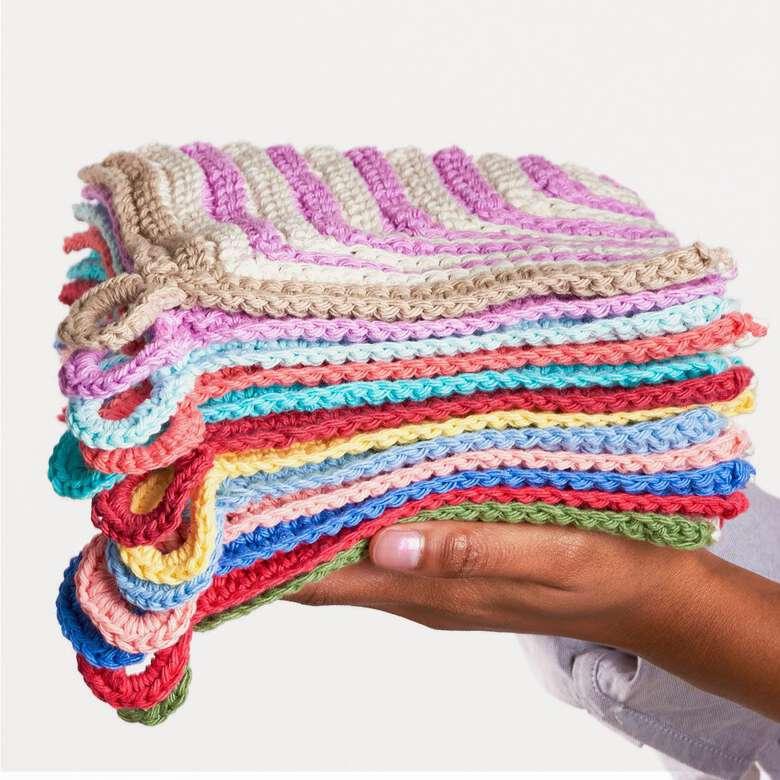 Lily Sugar'N cream, clean and bright dishcloth patterns you'll love.