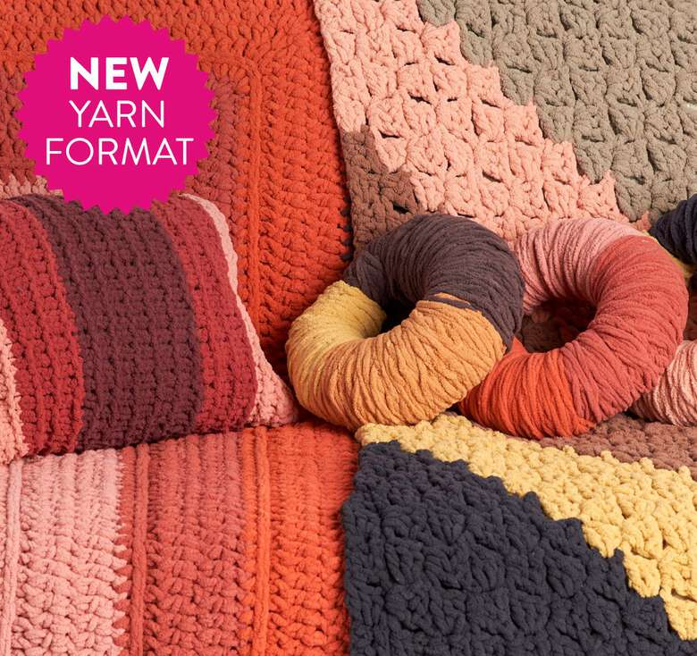 Introducing Tangle-Free, Quick-Start featuring Bernat Blanket O'Go!