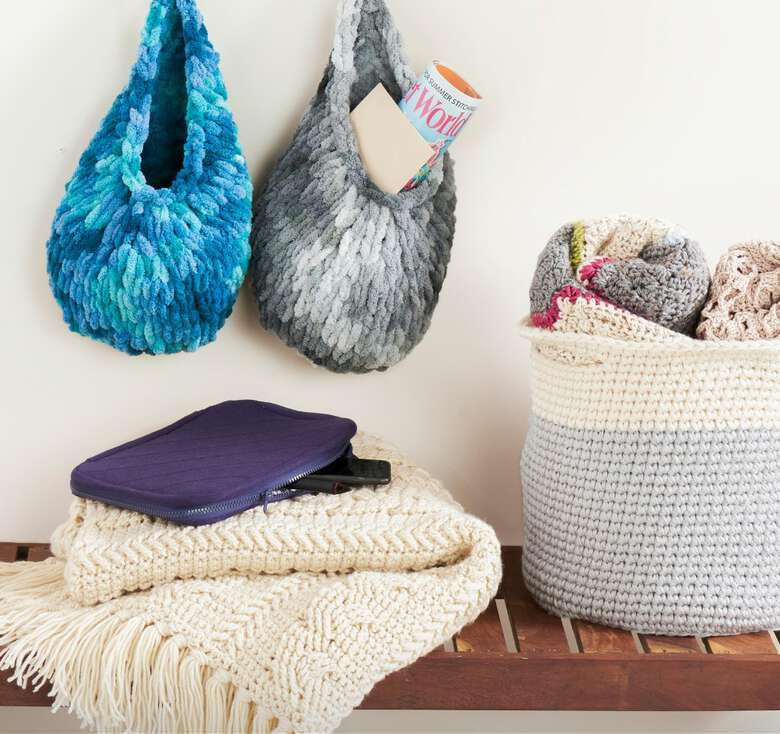 Fabulous new patterns and lots of organizing tips to help you on the home front.