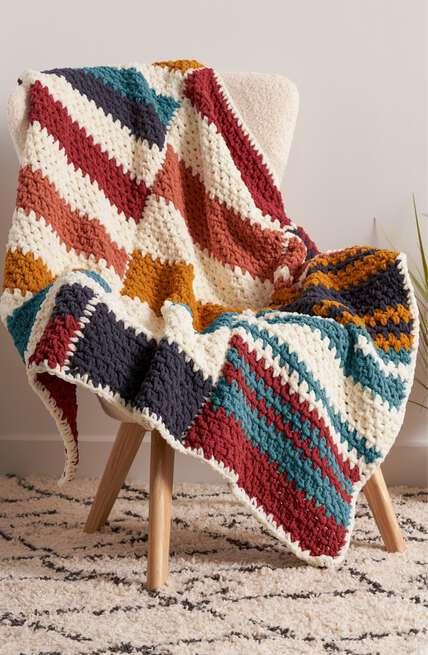 Bernat boutique, our newest Home Décor patterns.