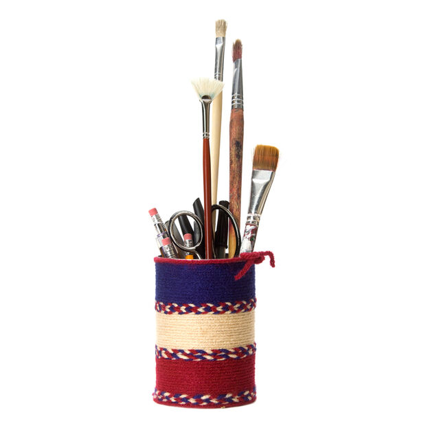 Red Heart Pencil Can Holder in color
