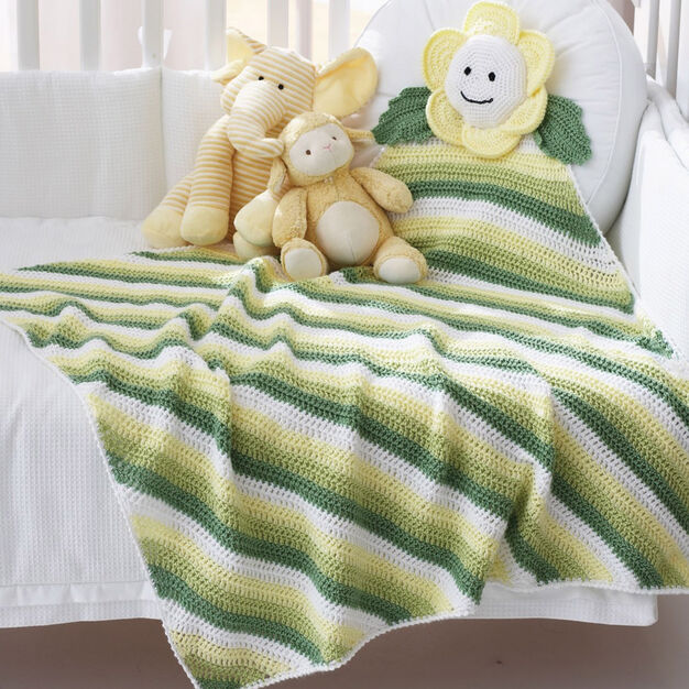 Bernat Daisy Blanket in color