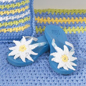 Bernat Flip Flops With Daisies