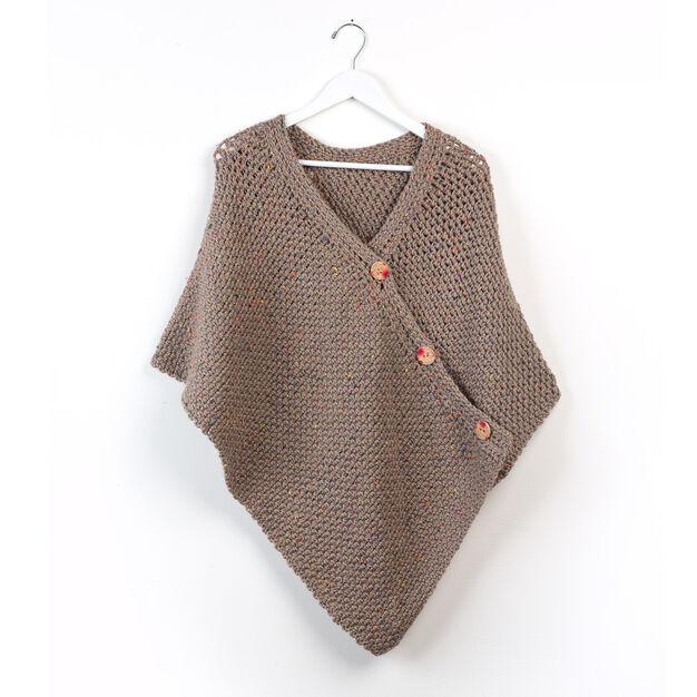 Patons Crochet Poncho Xssml Yarnspirations