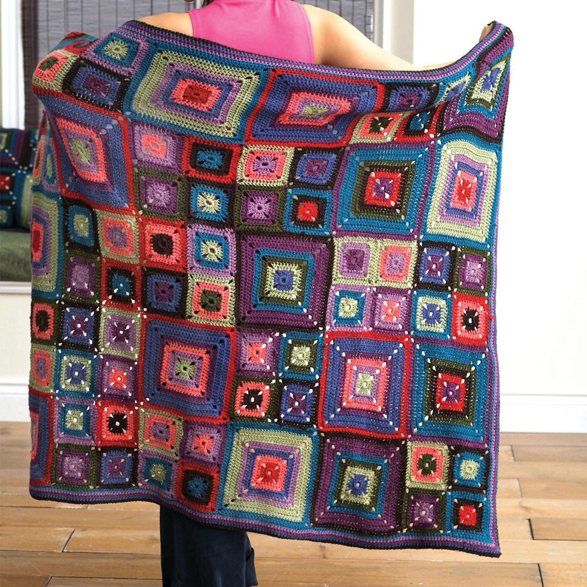 patons bright squares blanket pillow set blanket pattern