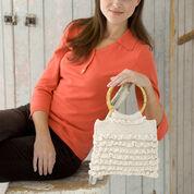 Red Heart Crochet Ruffled Bag