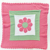 Red Heart In Full Bloom Baby Blanket