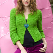 Go to Product: Red Heart Sparkling Crochet Cardi, S in color