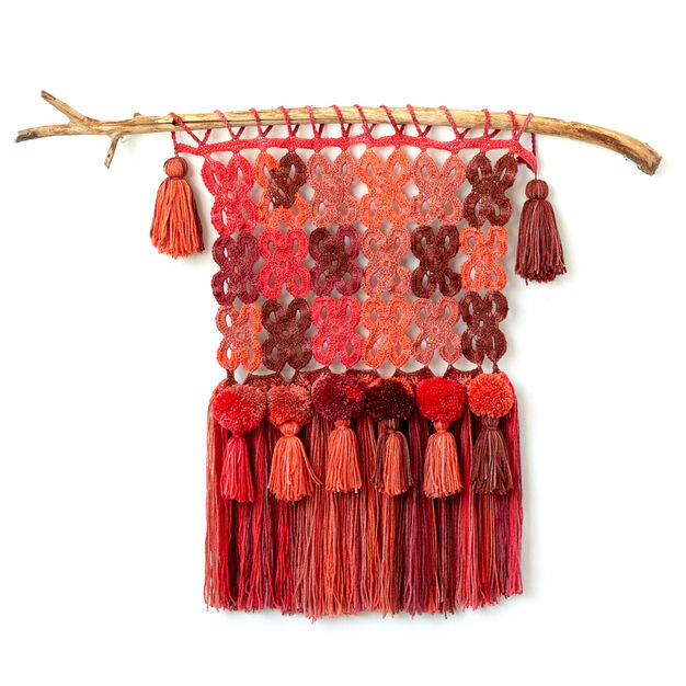 Caron Cakes Boho Crochet Wall Hanging in color
