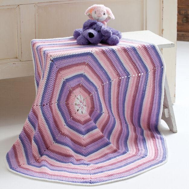 Caron Octagon Baby Blanket