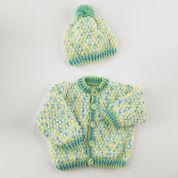 Red Heart Crochet Hat & Cardigan, 6 mos