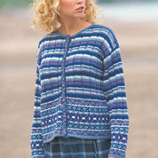 Patons Fair Isle Plaid Cardigan, S