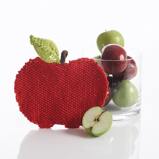 Bernat Apple Dishcloth in color