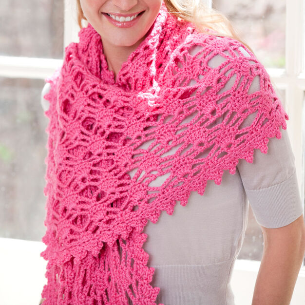 Red Heart Simply Alluring Shawl in color