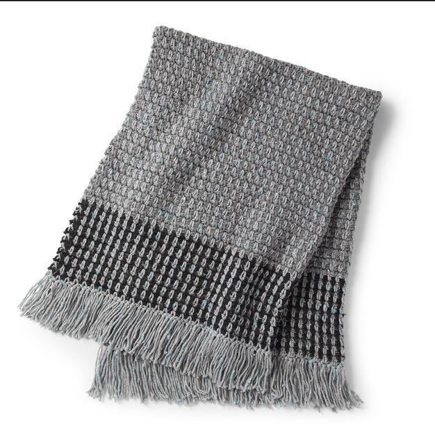 Bernat Crochet Moss Stitch Blanket in color