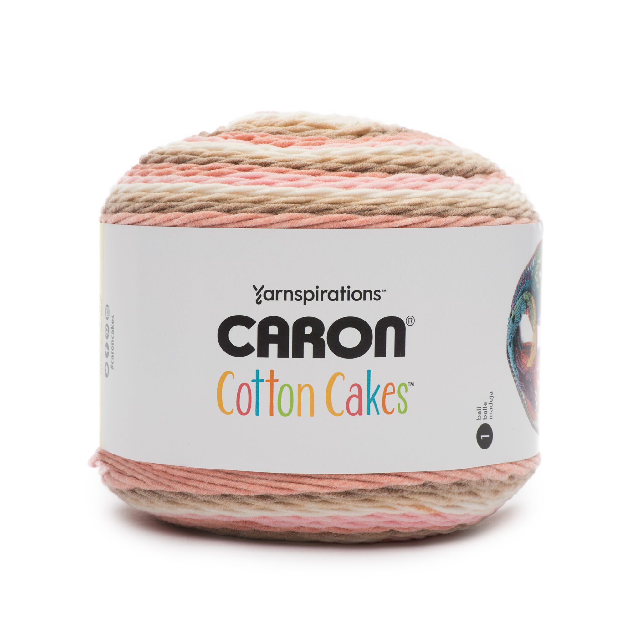 Caron Cotton Cakes Yarn (250g/8 8oz), Blush & Bloom