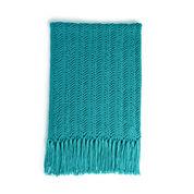 Caron Vertical Herringbone Crochet Blanket