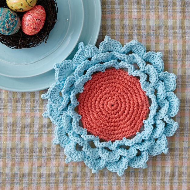 Bernat Spring Flower Coaster in color