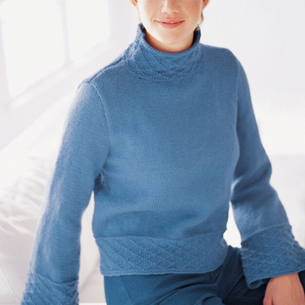 Patons Bell Sleeve Pullover, S in color