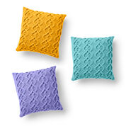 Caron Cable Knit Pillow, Sunflower