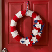 Red Heart Stars & Stripes Wreath