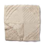 Caron Counterpane Knit Blanket
