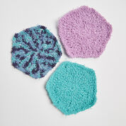 Red Heart Pentagon Scrubby