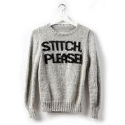 Patons Stitch Please! Knit Sweater, XS/S