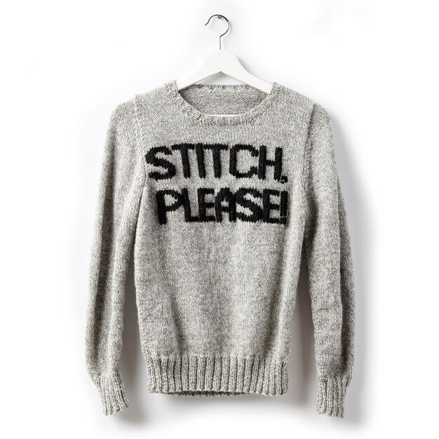 09618588aade Patons Stitch Please! Knit Sweater