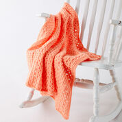 Go to Product: Caron Easy Peasy Baby Blanket, Peach in color