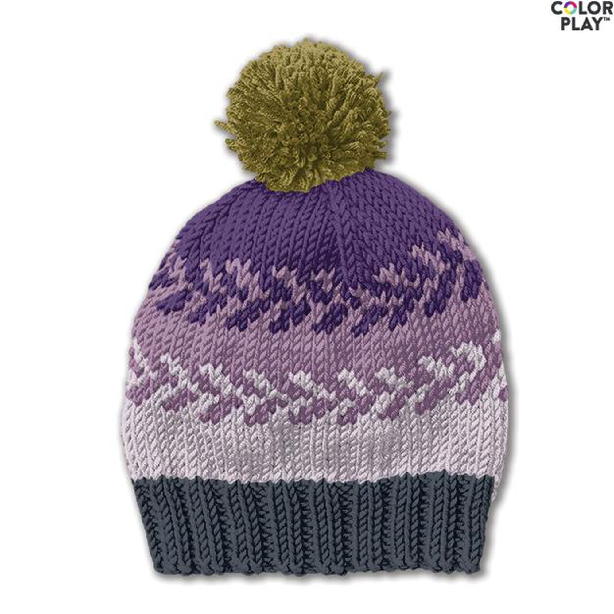 accf06dca91 More Inspirational Images. Previous. Caron x Pantone Knit Fair Isle Hat ...